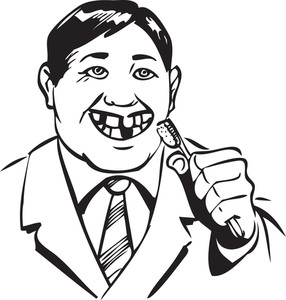 Illustration Of A Man With Tooth Brush.