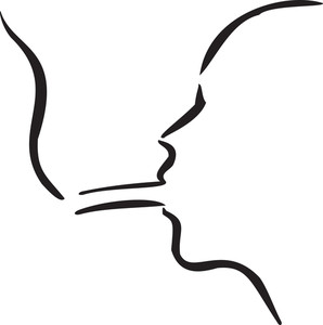 Illustration Of A Man's Face With Cigarette.