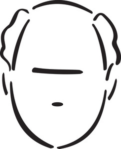 Illustration Of A Middle Bald Man.