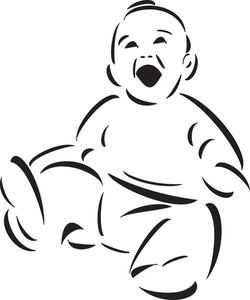 Illustration Of A Playing Baby.