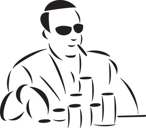 Illustration Of A Poker Player.