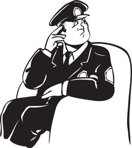 Illustration Of A Police Officer.
