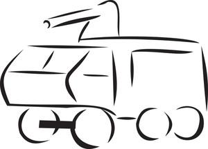 Illustration Of A Police Van.