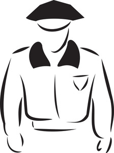 Illustration Of A Policeman.
