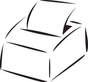 Illustration Of A Printer Machine.