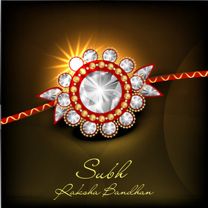 Illustration Of A Rakhi For Raksha Bandhan Festival.