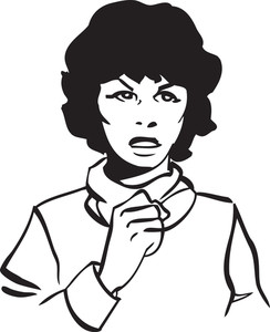 Illustration Of A Retro Woman.