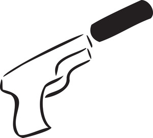 Illustration Of A Revolver.