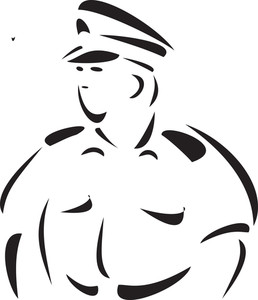 Illustration Of A Sailor In Captain Dress.