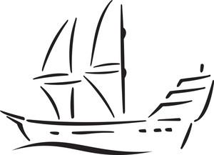 Illustration Of A Ship.