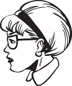 Illustration Of A Side Profile Lady.
