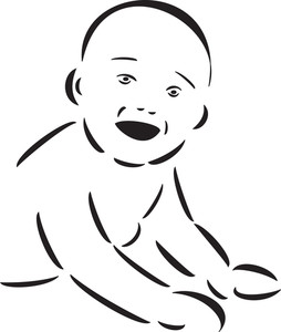 Illustration Of A Smiling Baby.