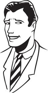 Illustration Of A Smiling Man.