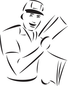 Illustration Of A Smiling Postman.