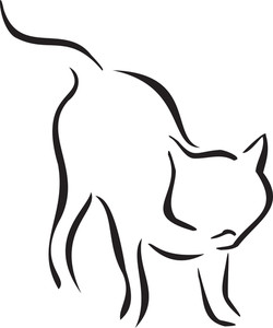 Illustration Of A Standing Cat.