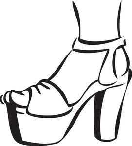 Illustration Of A Stylish Heel Sandal.