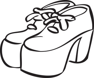Illustration Of A Stylish Heel Shoes.