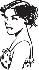 Illustration Of A Stylish Lady.