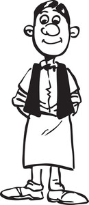 Illustration Of A Waiter.
