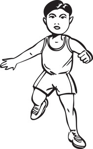 Illustration Of A Walking Boy.
