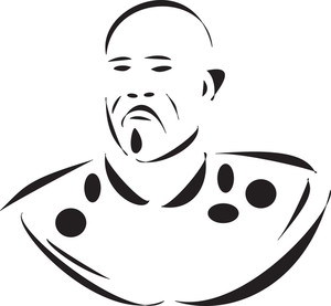 Illustration Of A Young Bald Man.