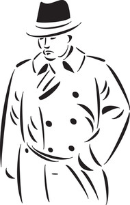 Illustration Of A Young Mafia Man.