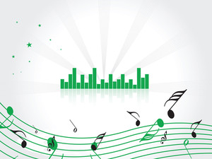 Illustration Of An Abstract Music Graph With Musical Notes