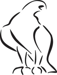 Illustration Of An Eagle.