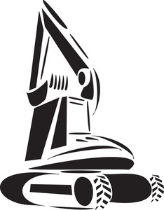 Illustration Of An Excavator.