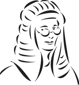 Illustration Of British Judge.