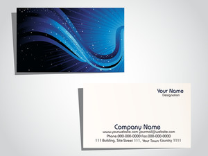 Illustration Of Business Card With Company Name