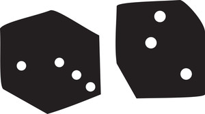 Illustration Of Casino Dice.