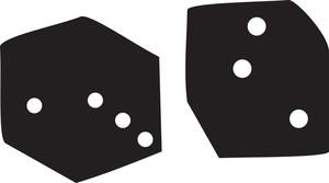Illustration Of Casino Dice.