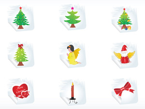 Illustration Of Christmas Sticker Vector