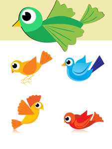 Illustration Of Colorful Birds