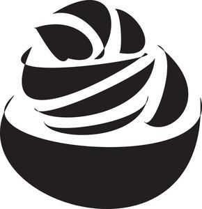 Illustration Of Cup Ice Cream.