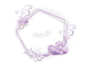Illustration Of Decorated Romantic Frame