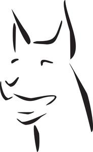 Illustration Of Dog's Face.