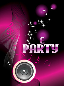 Illustration Of E Party Background