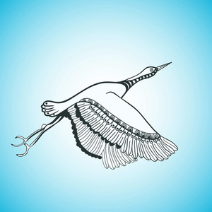Illustration Of Flying Bird