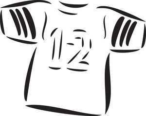 Illustration Of Football Player T-shirt.
