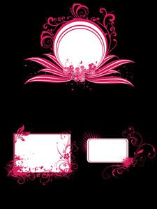 Illustration Of Frames With Swirl Design