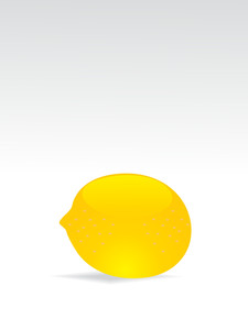 Illustration Of Glossy Lemon