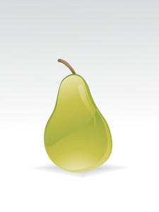 Illustration Of Glossy Pear