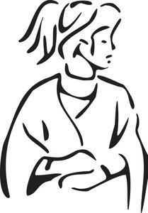 Illustration Of Greek Mythological Lady.