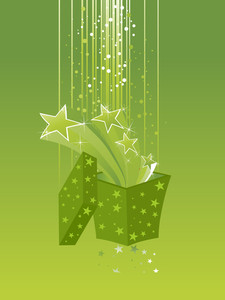 Illustration Of Green Artistic Background