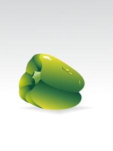 Illustration Of Green Capsicum