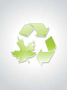 Illustration Of Green Ecology Icons