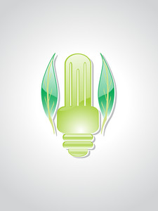 Illustration Of Green Object With Background