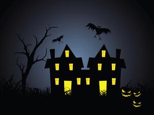 Illustration Of Halloween Background Series2 Set11